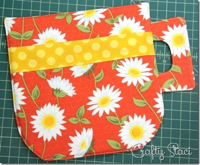Top stitching outside edge - Crafty Staci