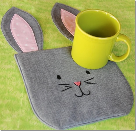 Bunny Mug Rug from Crafty Staci