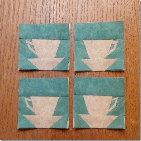 Mary's Tea Quilt Corners