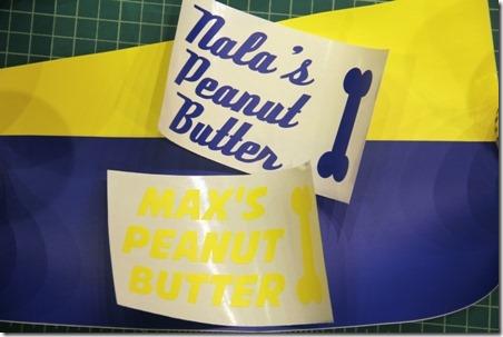 Vinyl for peanut butter jars