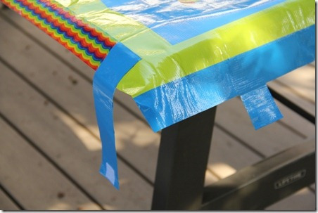 Duct Tape Picnic Table Cloth - Crafty Staci 9