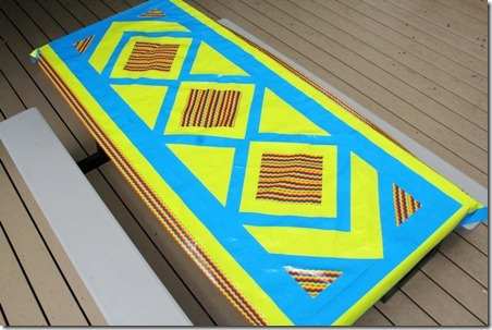 Duct Tape Picnic Table Cloth - Crafty Staci 11