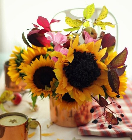 Paper Sunflowers from eHow