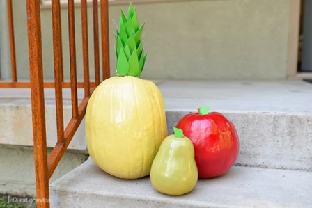 Fruit Pumpkins from Hey Lets Make Stuff