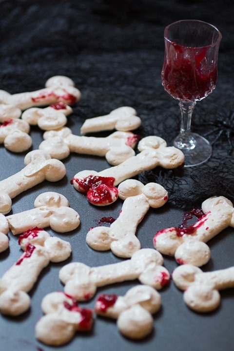 Meringue Bones with Raspberry Guts from A Sue Chef