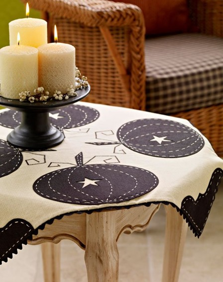 Sophisticated Pumpkin Tablecloth from All People Quilt