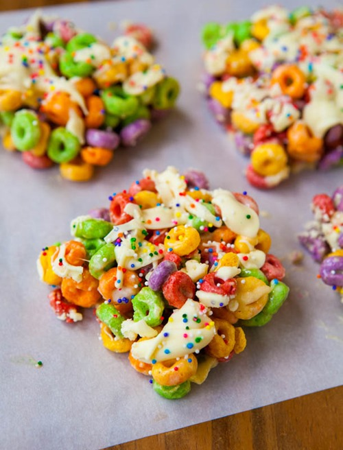 Malibu Rum Fruit Loops Treats from Averie Cooks