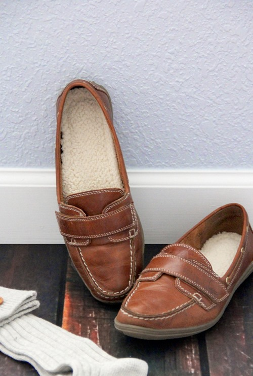 Sherpa Shoe Inserts from Sewing Rabbit