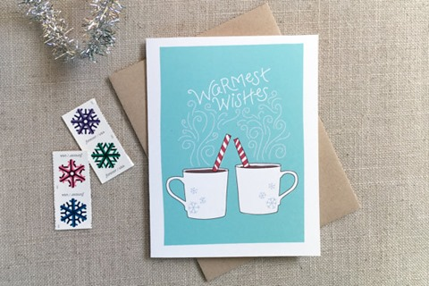 Warmest Wishes Holiday Card from acbcDesign