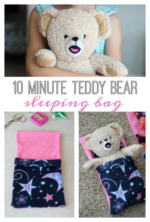 10 Minute Teddy Bear Sleeping Bag from Gluesticks