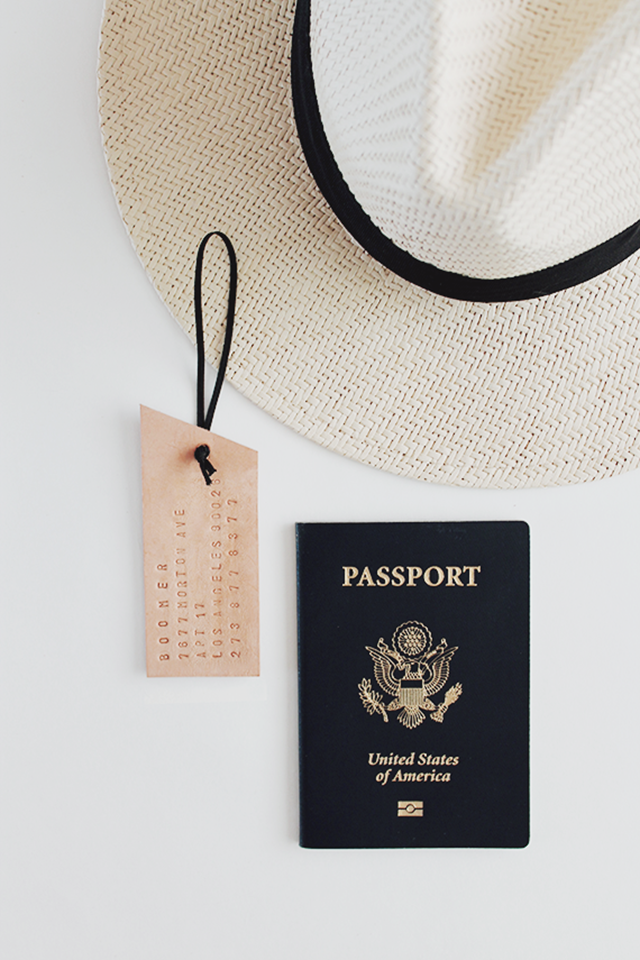 Leather Luggage Tags from Almost Makes Perfect