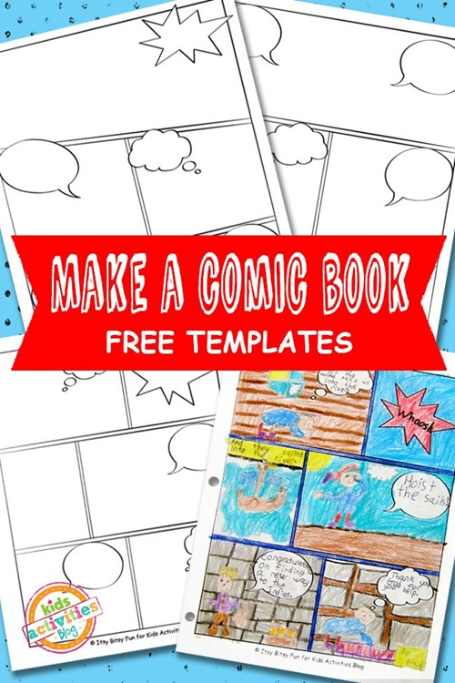 Printable Comic Book Templates from Kids Activites Blog
