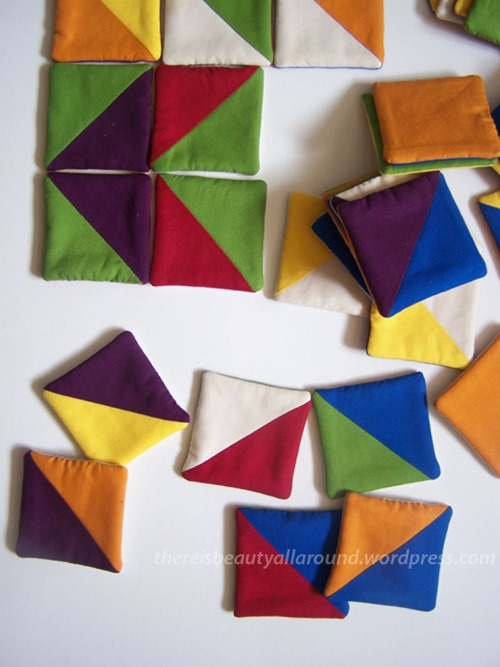 Tangram-esque Fabric Puzzle from Beauty All Around