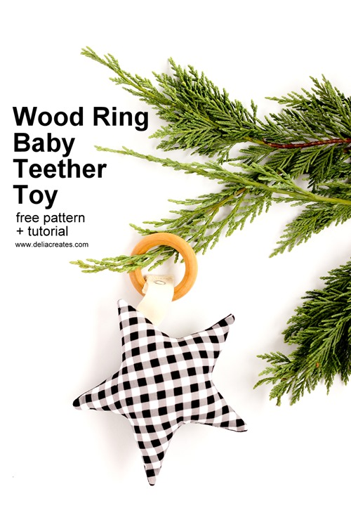Wood Ring Baby Teether Toy from Skip to my Lou