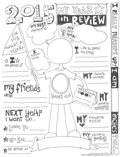 Year in Review Printable from Skip to my Lou