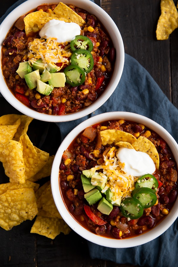 Healthy Turkey Chili from Ambitious Kitchen