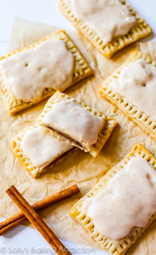 Homemade Frosted Brown Sugar Cinnamon Pop Tarts from Sally's Baking Addiction