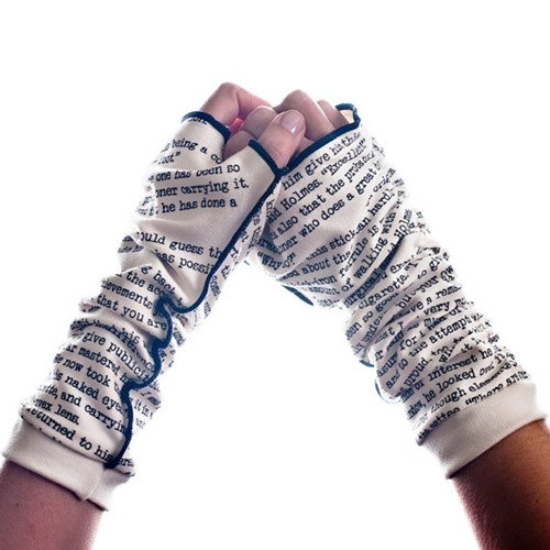 Sherlock Holmes Writing Gloves from storiarts on Etsy