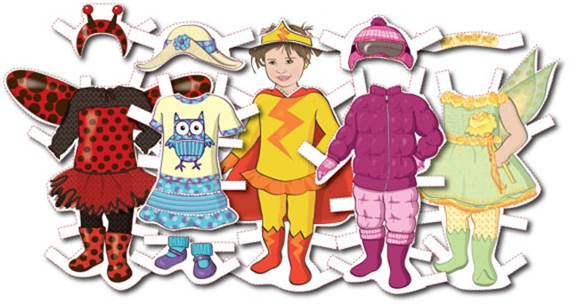 Toddler's Personalized Paper Doll Kit from SandyFordDesign on Etsy