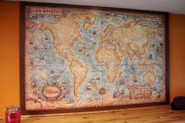 Mounted World Map
