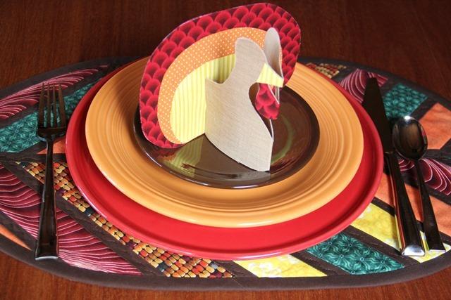 No Sew Stand Up Fabric Turkey by Crafty Staci