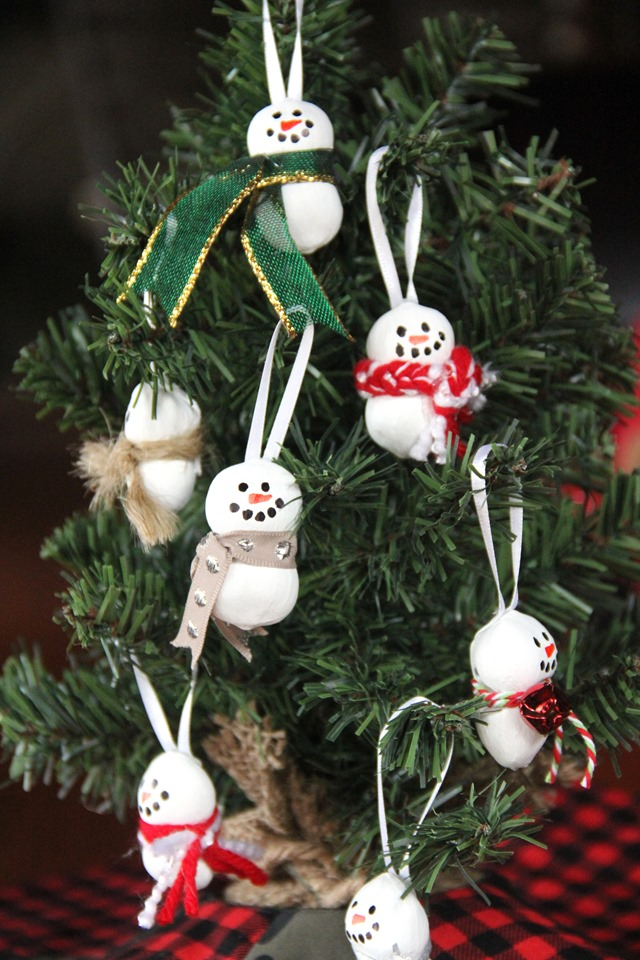 Hazelnut Snowman Ornaments from Crafty Staci