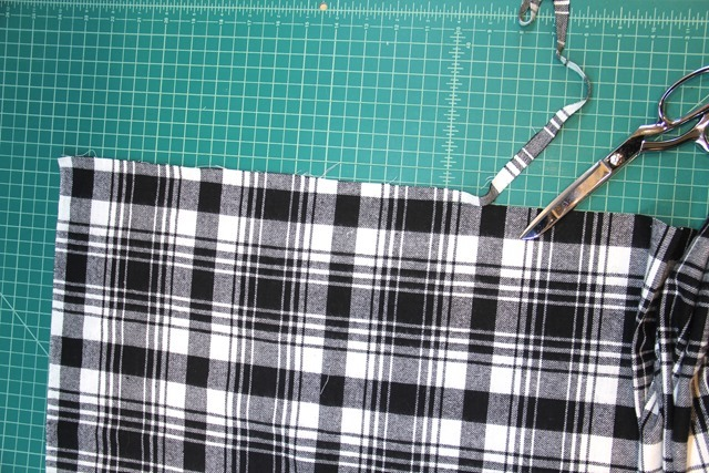 Cut edges of fabric evenly