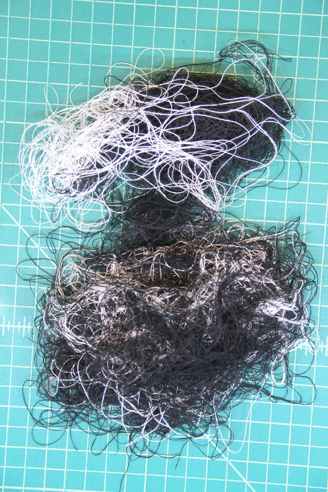 Threads left after fringing
