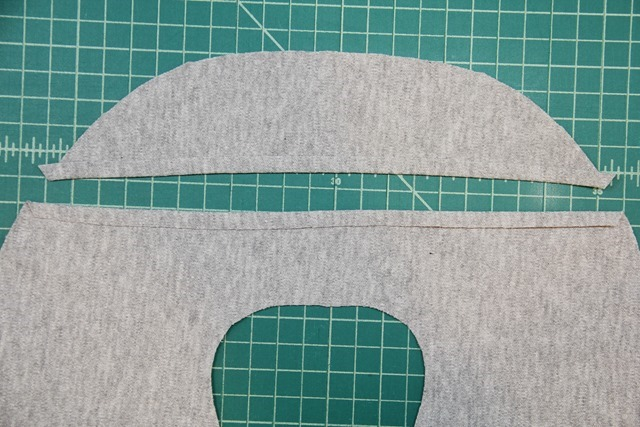 Fold cut edges under