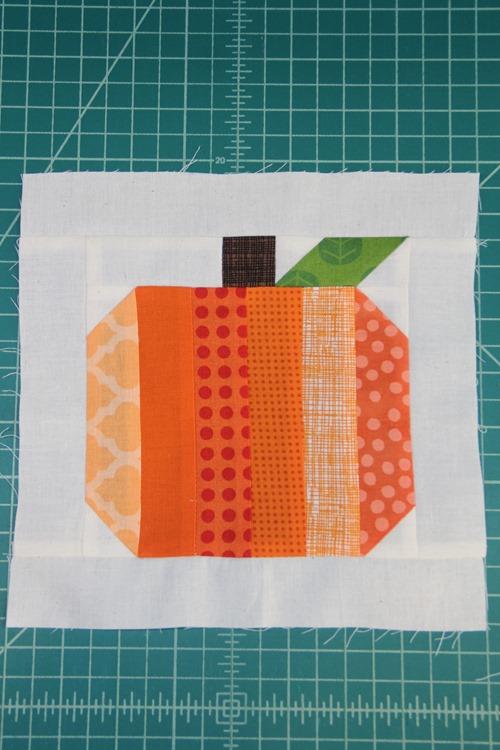 Pieced Pumpkin quilt block