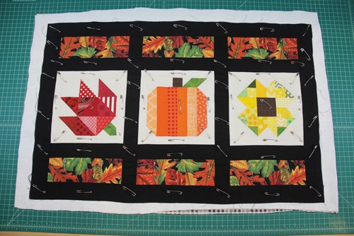 Quilt pinned