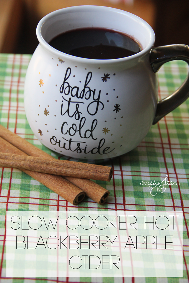 Slow Cooker Hot Blackberry Apple Cider from Crafty Staci