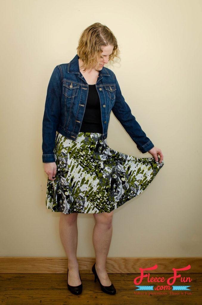 Womens Skater Skirt from Fleece Fun.png