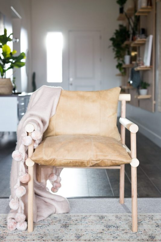 Wooden Dowel Leather Chair from Vintage Revivals.jpg