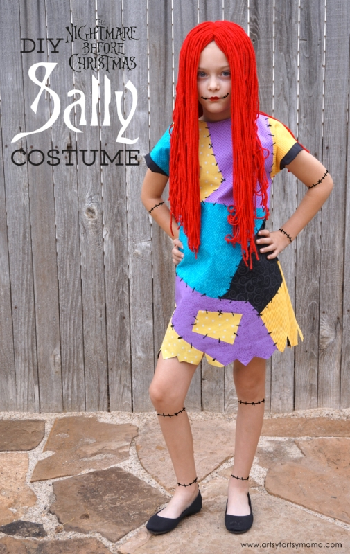 DIY Nightmare Before Christmas Sally Costume from Artsy Fartsy Mama