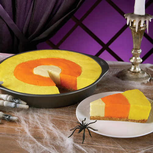 Candy Corn Cheesecake from Wilton