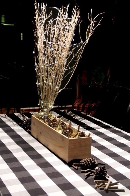 Rustic Wood Centerpiece from Crafty Staci