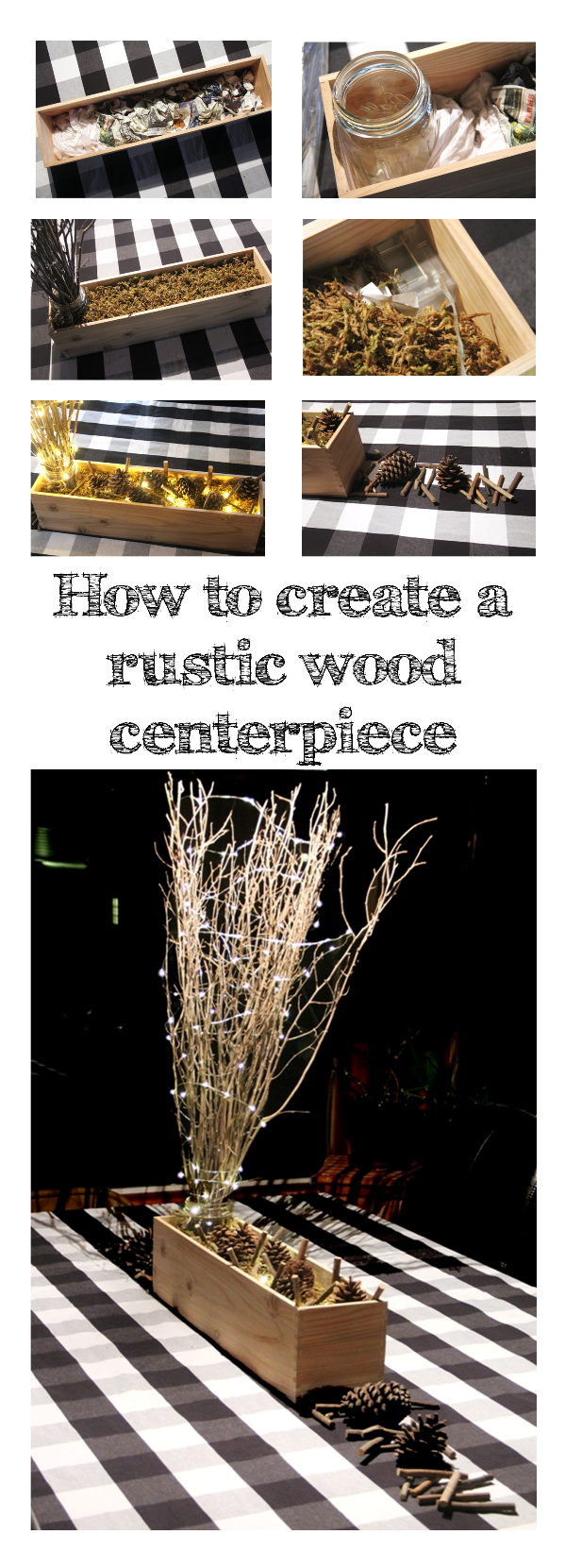 How to create a rustic wood centerpiece