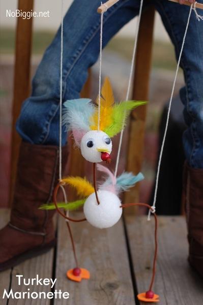 Turkey Marionettes from No Biggie