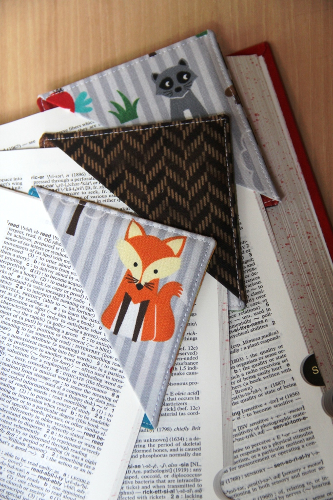 Quick Fabric Corner Bookmarks - Crafty Staci 1