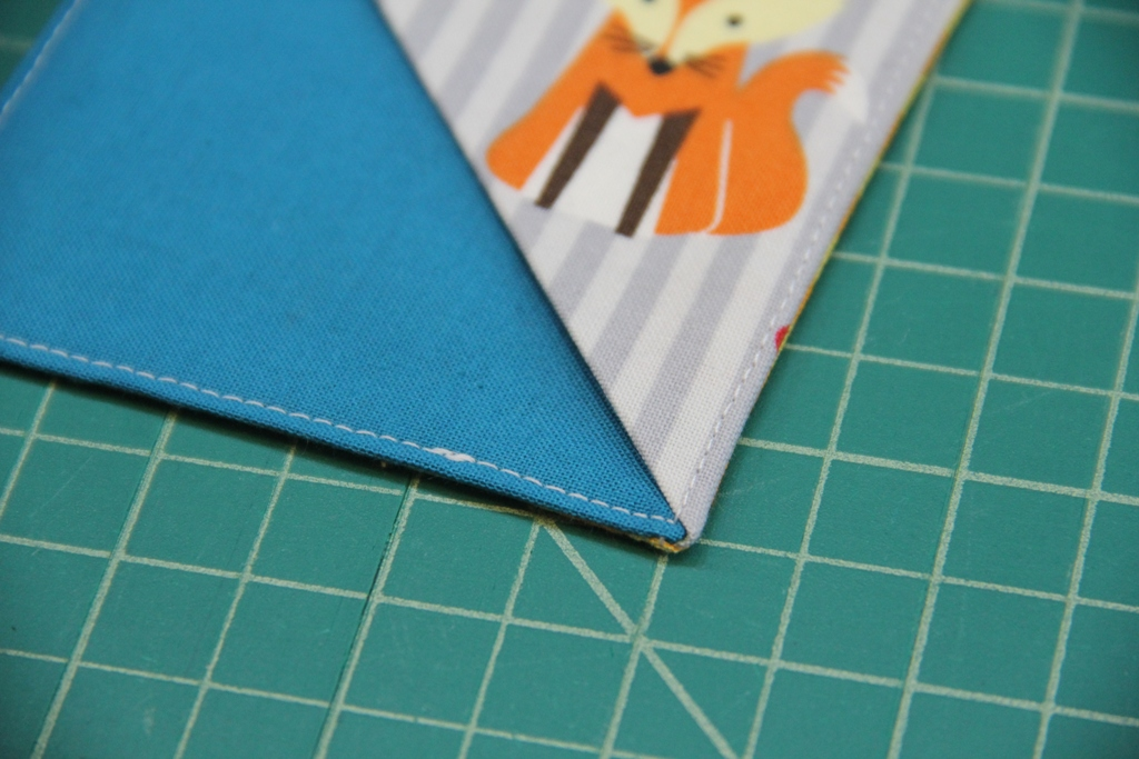 Quick Fabric Corner Bookmarks - Crafty Staci 9