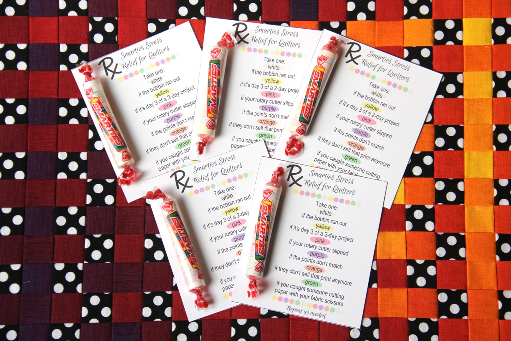 Smarties Stress Relief Printable RX for Quilters