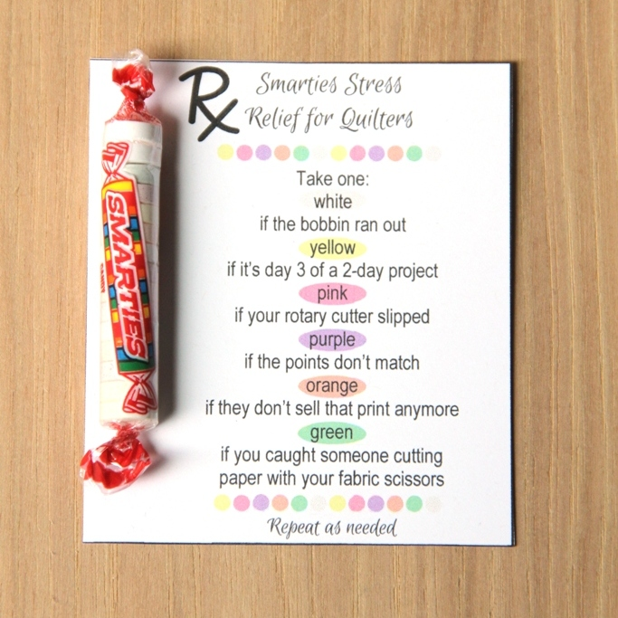 Smarties Stress Relief for Quilters Printable from Crafty Staci