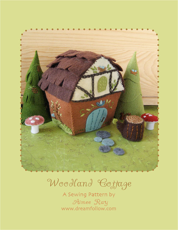 Woodland Cottage Sewing Pattern from littledear on Etsy