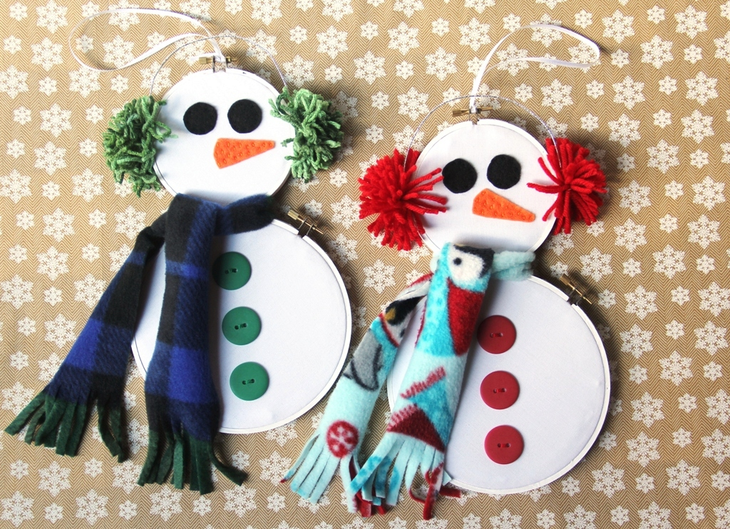 Hoop Art Snowmen from Crafty Staci