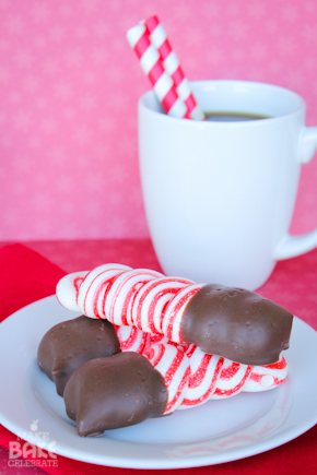 Chocolate Dipped Peppermint Meringues from Make Bake Celebrate