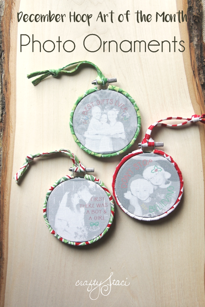 December Hoop Art of the Month - Photo Ornaments