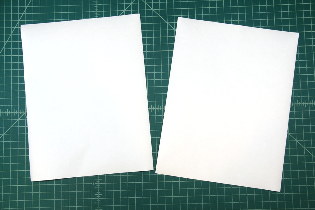 Cut out fabric around paper
