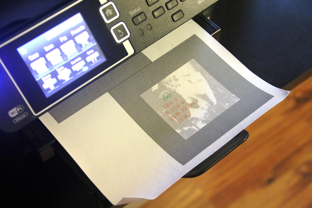 Print photos on fabric
