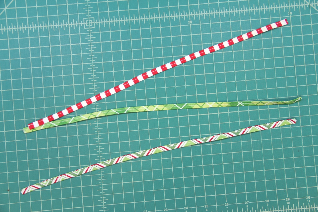 Fabric strips for hanging